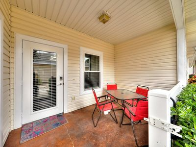 Photo for Dog-friendly home w/ a private patio & shared lagoon pool - close to the beach