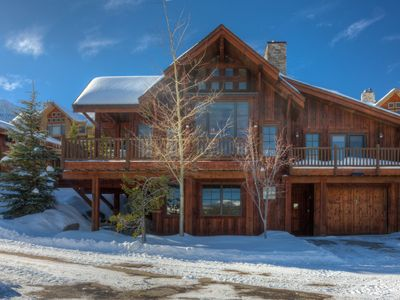 Photo for Spacious mountain home with spectacular views and ski in/out access.
