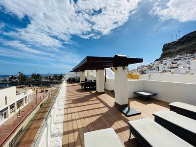 Photo for Luxury penthouse in town centre Puerto Mogan