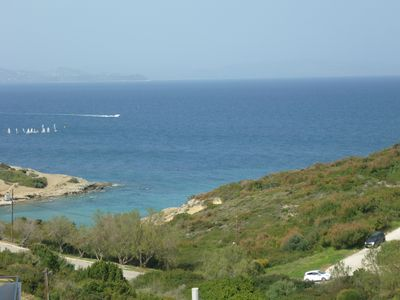 Photo for Rafina: sea shore apartment, with panoramic view of the nearby beach