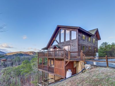 Photo for Spacious cabin w/2,750 sq. feet of fun from the game room to the hot tub!