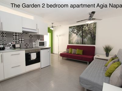 Photo for Gr8padz The Garden 2 bedroom apartment. Central Agia Napa