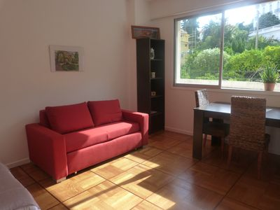 Photo for 300m (0.2M) to the beach,  sunny flat, quiet, central, air cond, view on garden