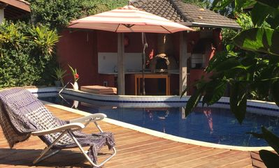 Photo for House with swimming pool 50m from the beach - 4 Wi-Fi Rooms
