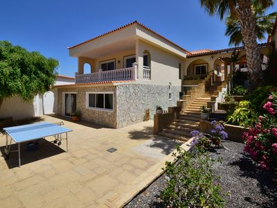 Photo for Fabulous luxury villa with private heated pool & sea views