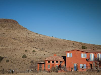 Photo for Large guesthouse withpool/spa, 360 degrees mountain views, horses welcome