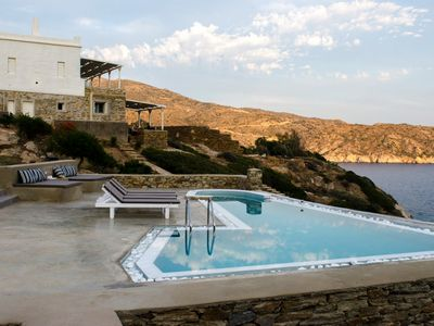 Photo for Beautiful Villa Beach Front, Ios Island, 4 Bedrooms 3 Bathrooms, Private Pool, Up to 10 Guests. 1st Beach 20 meters, 2nd Beach 80 meters