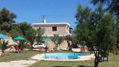 Photo for Holiday apartment in the country, pool, large garden, wifi| Triopetra, Crete