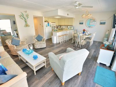 Photo for Delightful Ocean Block Condo in an Uptown Location Walking Distance To Northside Park that has an Elevator and Two Parking Spaces that is Only a Short Walk to the Beach!