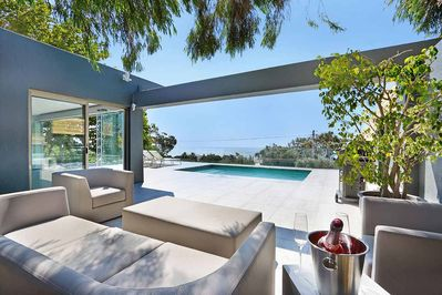 Outdoor furniture with private pool