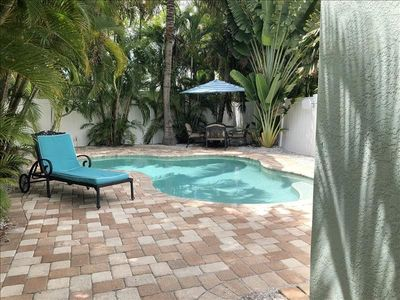 Photo for PRIVATE POOL!! ~  STEPS TO BEACH ~ Key West Style Cottage with King Bed ~