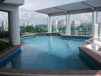 Our amazing rooftop pool.