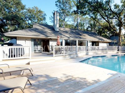Photo for Renovated family-friendly home with private hot tub and heated pool!