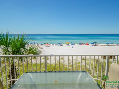 Photo for Next Avail 10/14-11/01. Thunder Beach 10/25-10/28 GREAT Rates!! 3BD/3BA Sleeps 10!! Direct Beachfront Wrap Around Balcony!! Reserved Parking, same floor.