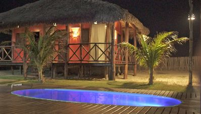 Photo for La Cabana / Rent an entire house with seaside chalets in a paradise !!
