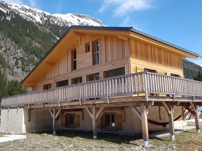 Photo for Beautiful family chalet, new, magnificent view of Mont Blanc, Chamonix