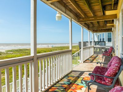 Photo for Vintage beachfront home w/ great views and beach access - dog-friendly!
