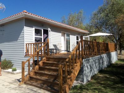 Photo for Beautiful wooden chalet with all comfort
