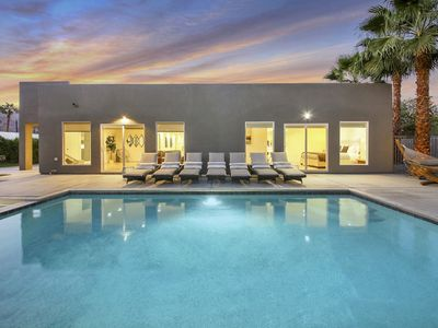 Photo for 4 BR desert getaway w/ pool, spa & outdoor shower!