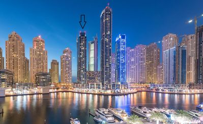 Photo for Exclusive Dubai Marina Apt. with sea & marina views