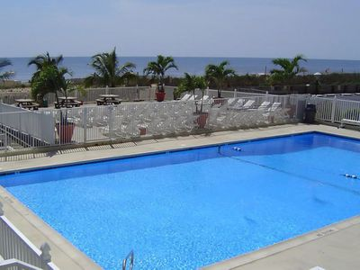 Oceanfront heated outdoor pool w/ patio. The Quay is an oceanfront building.