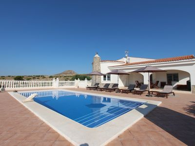 Photo for Villa with a large private swimming pool and panoramic coast views!