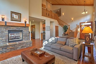 Inside, you'll find 2,500 square feet of tasteful living space, with high-beam ceilings, hardwood floors and comfortable furnishings.