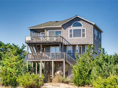 Photo for Let Your Worries Fade Away! Oceanfront, Salvo- Hot Tub, Beach Gear, Dog-Friendly