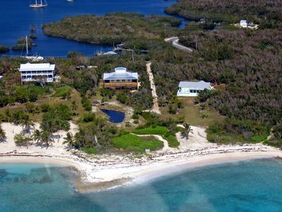 Photo for Waterfront in Black Sound, secluded beach & private dock on Green Turtle Cay!