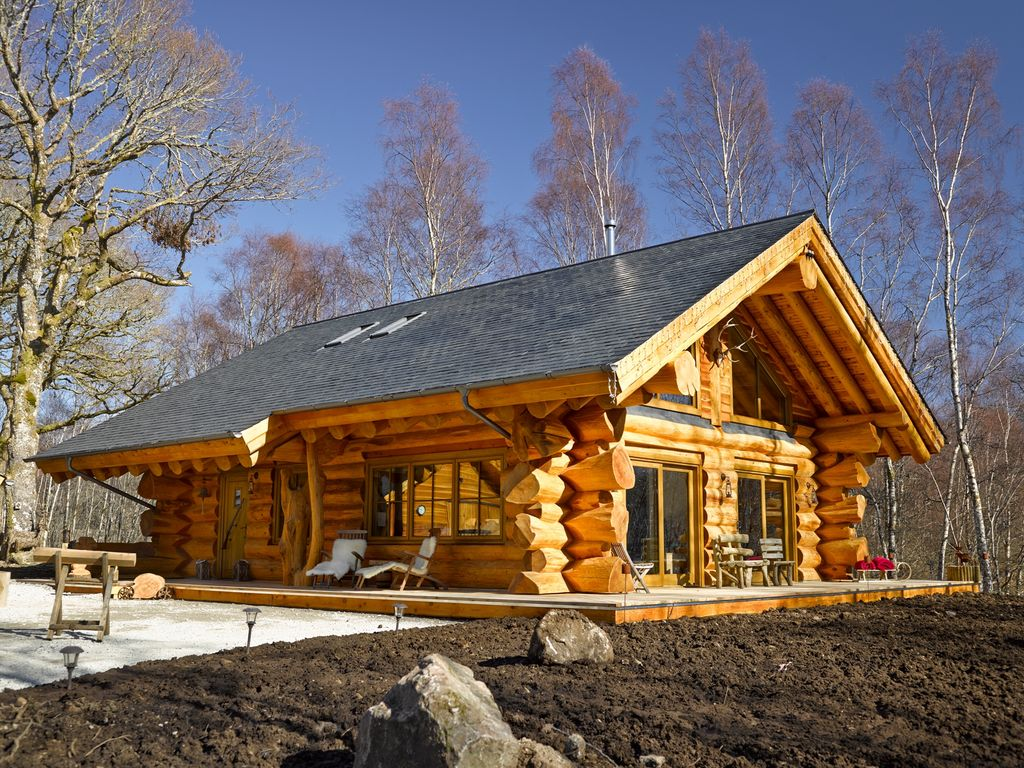 Ever dreamed of a real luxury log cabin homeaway for Vacation log homes