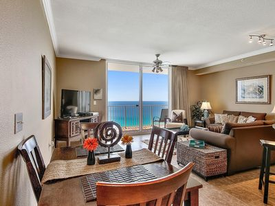 Photo for Beautiful Condo on the 17th floor overlooking the beach. 2 Beach Chairs included