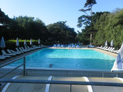 Photo for PORNICHET T2 in RDC with terrace 200 m beach .5 beds- heated swimming pool