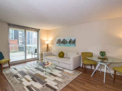 Photo for Superb downtown Grand Plaza suite w/ shared pool & game room, private balcony!