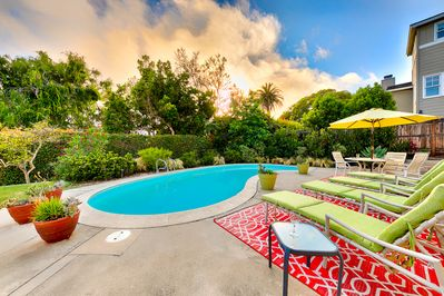 Welcome to your private, luscious private backyard haven.