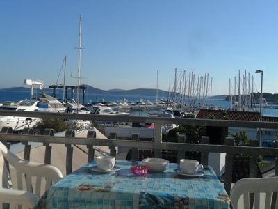 Photo for Apartments Marina View Ap 1, 2-3 people, balcony, sea view, free WiFi, parking