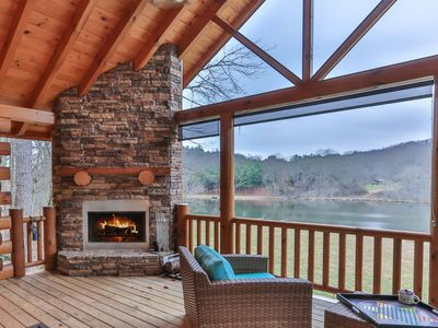 Photo for Lady Of The Lake is a cozy Lake Buckhorn cabin with dramatic views and serene setting.  Pet-friendly