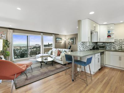 Photo for Work at home with a 180˚ View! Quiet Well Appointed Apt for Traveling Pro's