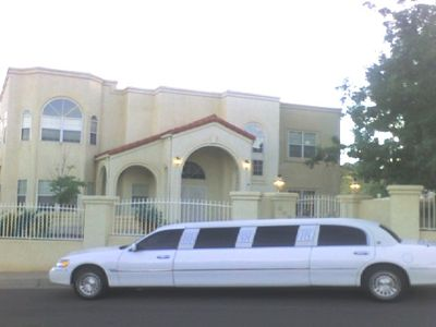 Front View of Rt66 Mansion with Complimentary Limo Service to / from Airport