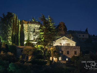 Photo for 15th century castle, between Cinque Terre and Portofino, garden and a sea view