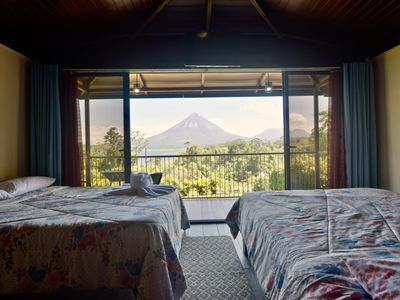 Paradise Bungalow 2 with Volcano and Lake view. A/C & Free WiFi.