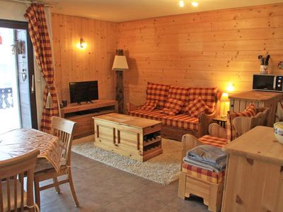 Photo for 2 Room Apartment / 4 people. Residence L'Arc en Ciel located 500m from the resort center Les Gets