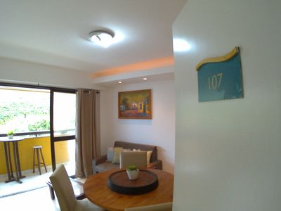 Photo for 88m2 beachfront apartment with sea view