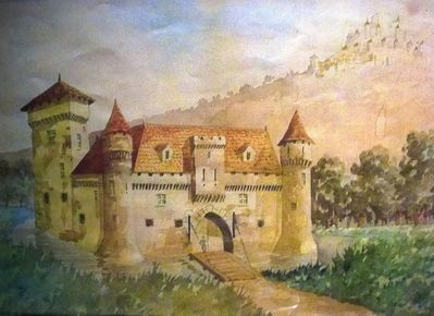 the castle in the 16th century, then owned by Queen Margot