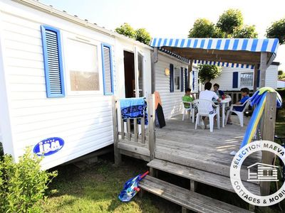 Photo for Camping Oleron Loisirs **** - Maeva Camping - Mobile Home Confort 3 Rooms 6 Persons