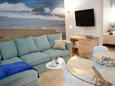 Photo for Oscar Apartments Sol, Penthouse with terrace, ideal couples, in the center of Sitges