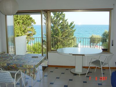 Photo for Holiday home in Calabria on the sea-view beach