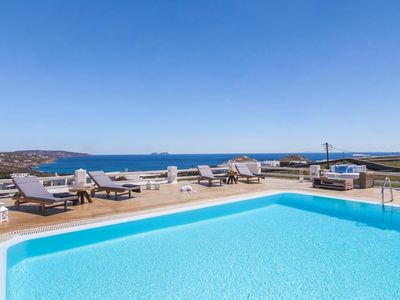 Photo for Villa Regina Mykonos, a brand new Luxury property, 5 Bedrooms 4 Bathrooms, Private Pool, Up to 10 Guests. It offers a panoramic view !