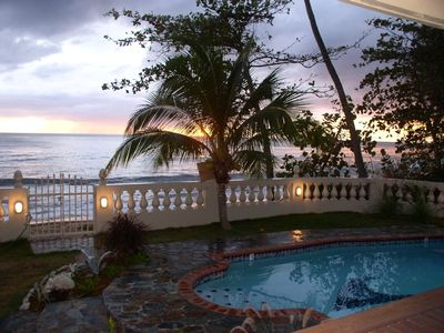 Photo for PRIVATE BEACHFRONT home with a private pool.