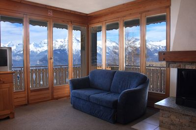 When you sit on the comfy sofa beds in the lounge you have a fantastic view