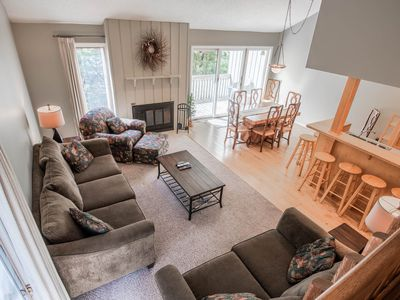 Photo for Harbor Springs condo with access to a private beach on Little Traverse Bay.